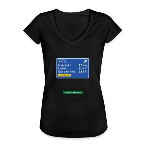 Naiset V2 - Naisten vintage t-paita