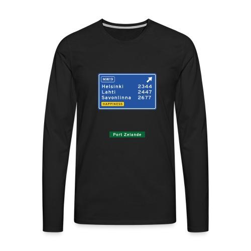 Miesten pitkähihainen - Miesten premium pitkähihainen t-paita