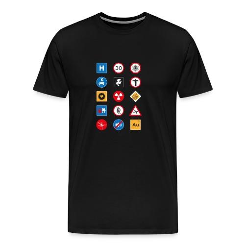 Miesten liikennemerkit - Miesten premium t-paita