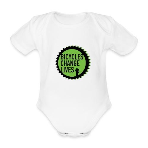 BCL Green Cog Babies - Organic Short-sleeved Baby Bodysuit