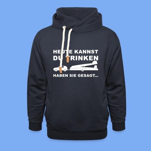 König der Außenlandung - Segelflieger T-Shirt - Schalkragen Hoodie