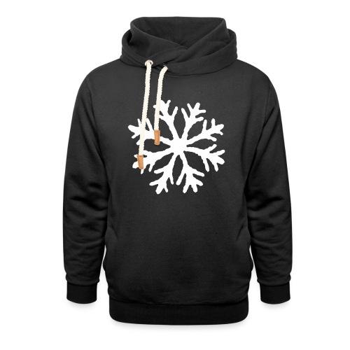 Snöflinga - Luvtröja med sjalkrage