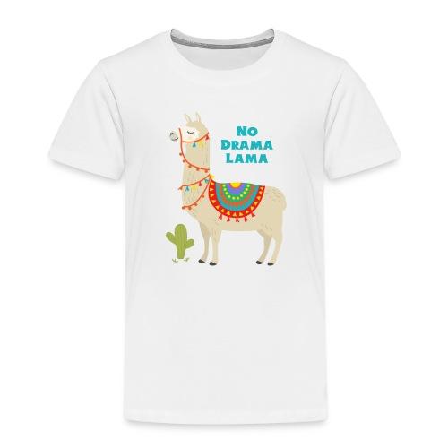 No Drama Lama 1 - Kinder Premium T-Shirt