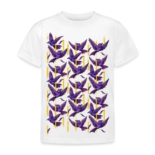 Purple Birds Pattern - Kids' T-Shirt