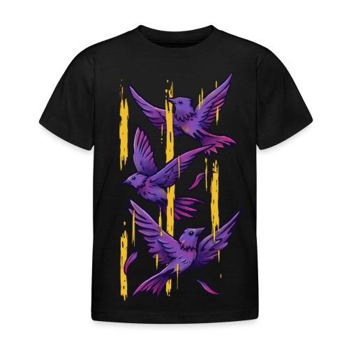 Purple Birds - Kids' T-Shirt