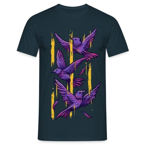 Purple Birds - Men's T-Shirt