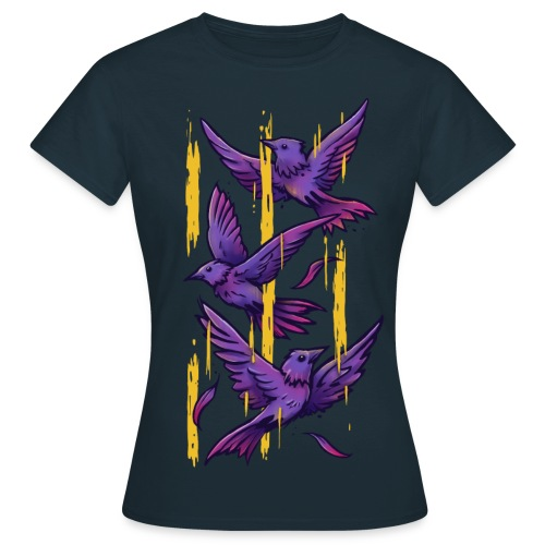 Purple Birds - Women's T-Shirt