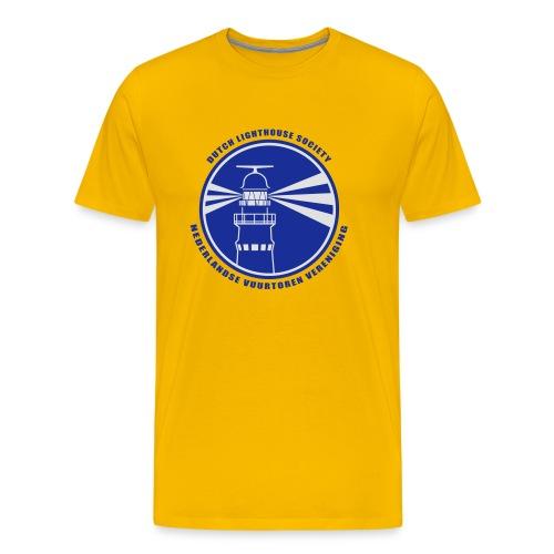 T-shirt Heren Geel - Mannen Premium T-shirt