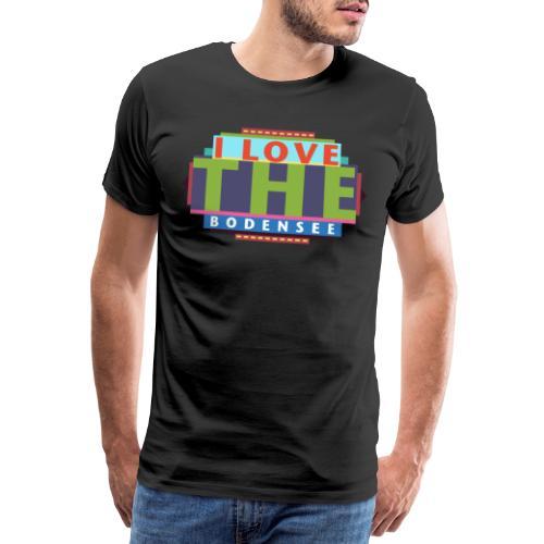 I LOVE Bodensee - Männer Premium T-Shirt