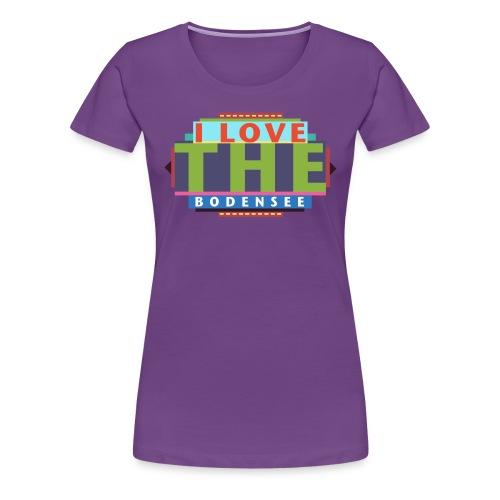 I LOVE THE Bodensee - Frauen Premium T-Shirt