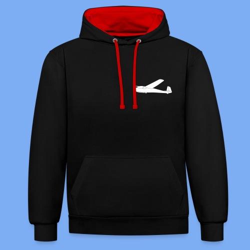 ka2 Segelflugzeug Segelflieger Flieschen Bekleidung Shop T-Shirt Geschenkidee - Contrast Colour Hoodie