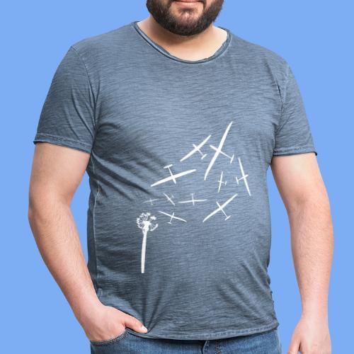 Pusteblume Segelflugzeug Segelfliegen - Segelflieger T-Shirt - Männer Vintage T-Shirt