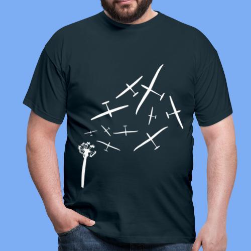 Pusteblume Segelflugzeug Segelfliegen - Segelflieger T-Shirt - Männer T-Shirt