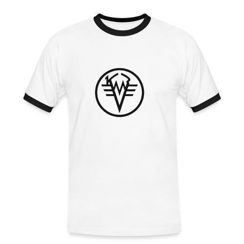 Eisenarsch Slim - Männer Kontrast-T-Shirt