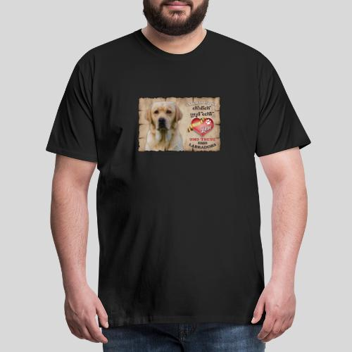 Gelber Labrador Retriever Liebe & Treue - Männer Premium T-Shirt