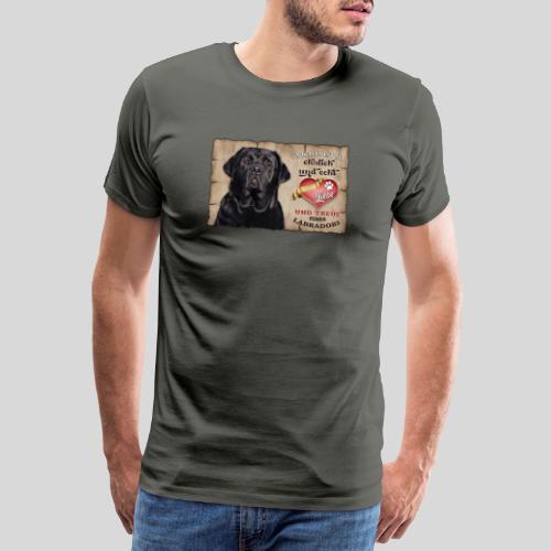 Schwarzer Labrador Retriever Liebe & Treue - Männer Premium T-Shirt