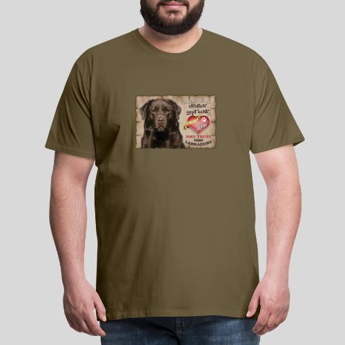 Chocolate Labrador Retriever Liebe & Treue - Männer Premium T-Shirt