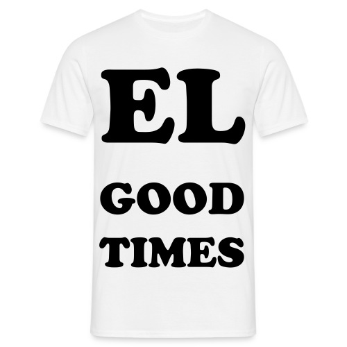 EL GOOD TIMES WHITE/BLACK - Men's T-Shirt