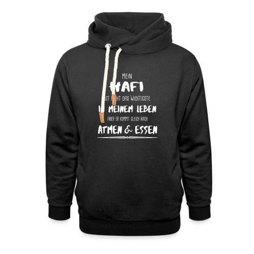 Der wichtigste Hafi - Hoodie mit Schalkragen - Schalkragen Hoodie