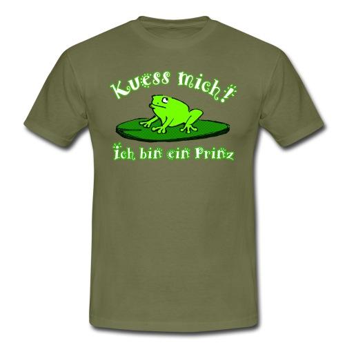 Küss mich, ich bin ein Prinz! - Männer T-Shirt