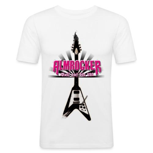 AlmRocker Gitarre Slim Fit mit Logos - Männer Slim Fit T-Shirt