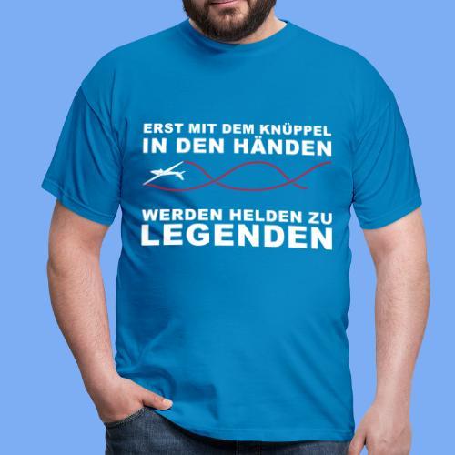 Segelflieger T-Shirt Geschenkidee Geburtstag Helden Legenden - Men's T-Shirt