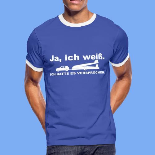 König der Außenlandung - Segelflieger T-Shirt - Men's Ringer Shirt