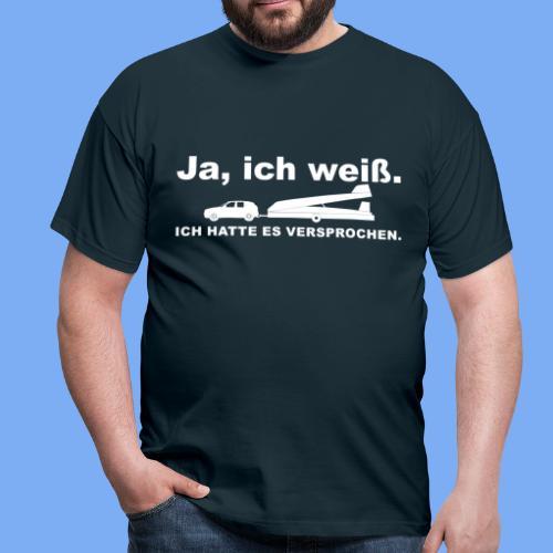 König der Außenlandung - Segelflieger T-Shirt - Men's T-Shirt