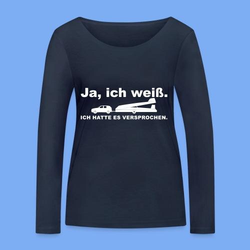 König der Außenlandung - Segelflieger T-Shirt - Women's Organic Longsleeve Shirt by Stanley & Stella
