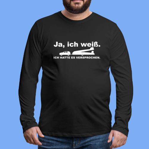 König der Außenlandung - Segelflieger T-Shirt - Men's Premium Longsleeve Shirt