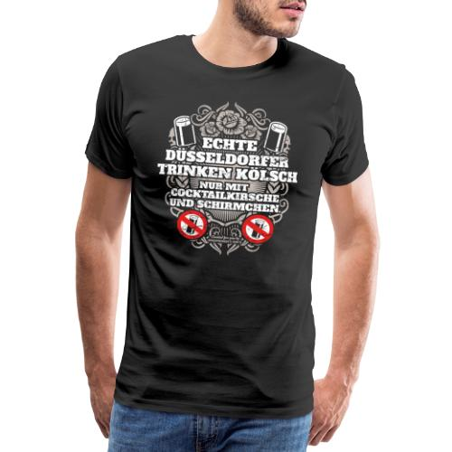 Düsseldorf T Shirt Spruch Echte Düsseldorfer T-Shirts - Männer Premium T-Shirt