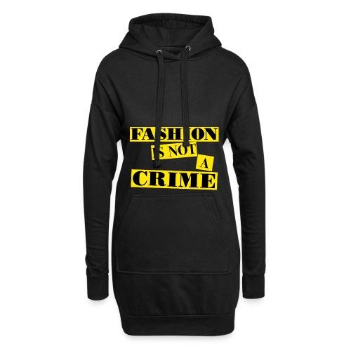 FASHION IS NOT A CRIME Women Hoodie Dress - Hoodie Dress