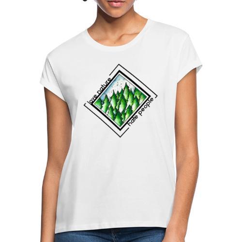 Oversize T-Shirt - Love Nature - Frauen Oversize T-Shirt
