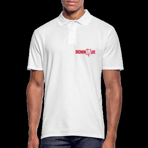 Down 4 Life Men Polo - Männer Poloshirt