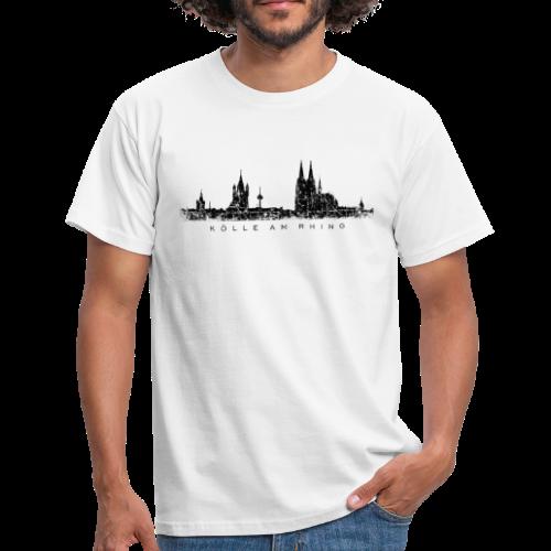 Kölle am Rhing Skyline (Vintage Schwarz) Köln am Rhein - Männer T-Shirt