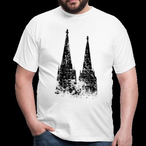 Kölner Dom (Vintage Schwarz) Köln Design - Männer T-Shirt