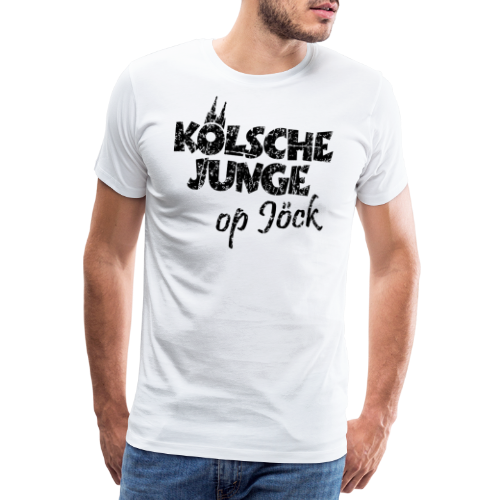 Kölsche Junge Op Jöck (Vintage Schwarz) Kölner Jungs Unterwegs - Männer Premium T-Shirt