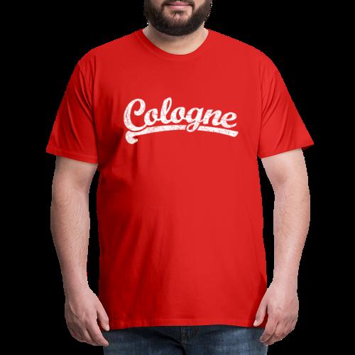 Cologne (Vintage Weiß) Sportliches Köln Design - Männer Premium T-Shirt