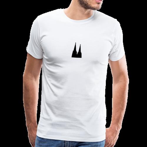 Kölner Dom (Schwarz/Center) Köln Design - Männer Premium T-Shirt