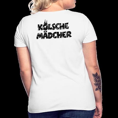 Kölsche Mädcher (Vintage Schwarz) Kölner Mädchen aus Köln - Frauen T-Shirt