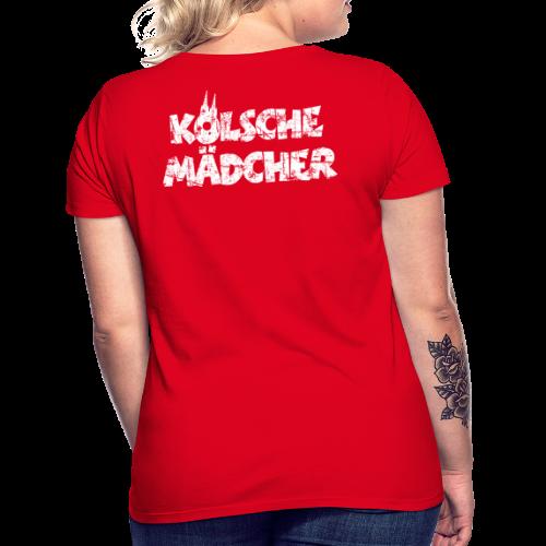Kölsche Mädcher (Vintage Weiß) Kölner Mädchen aus Köln - Frauen T-Shirt