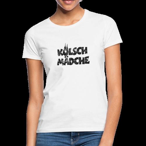 Kölsch Mädche (Vintage Schwarz) Mädchen und Frauen aus Köln - Frauen T-Shirt