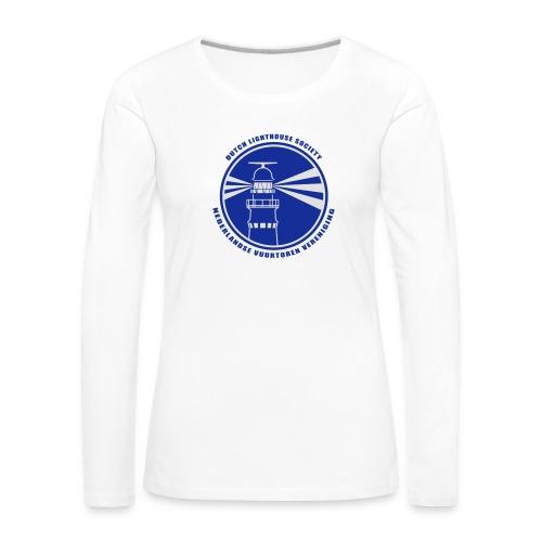 T-shirt lange mouwen Dames Wit - Vrouwen Premium shirt met lange mouwen