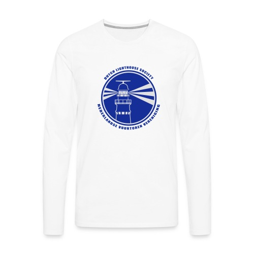 T-shirt lange mouwen Heren Wit - Mannen Premium shirt met lange mouwen