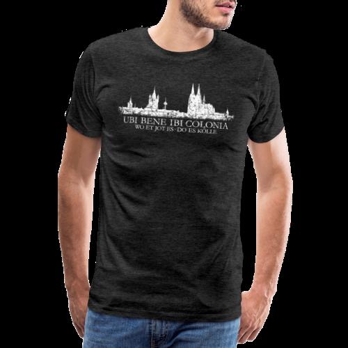 UBI BENE DO ES KÖLLE Skline (Vintage Weiß) Köln Römisch - Männer Premium T-Shirt