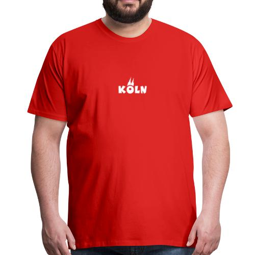 KÖLN (Weiß/Center) mit Kölner Dom - Männer Premium T-Shirt