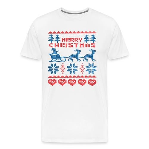Kerst trui tshirt - Mannen Premium T-shirt