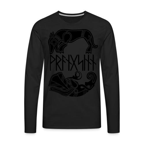 Runes and viking age designs - Men's Premium Longsleeve Shirt