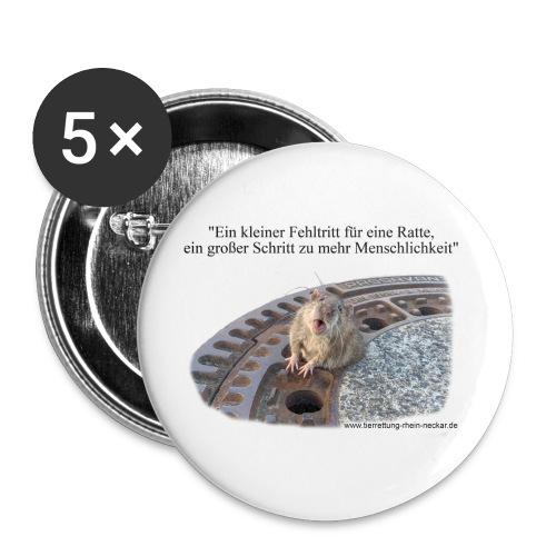 Rat-Button - Buttons klein 25 mm (5er Pack)