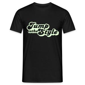 Mannen T-shirt - heren shirt jumpisthestyle glow